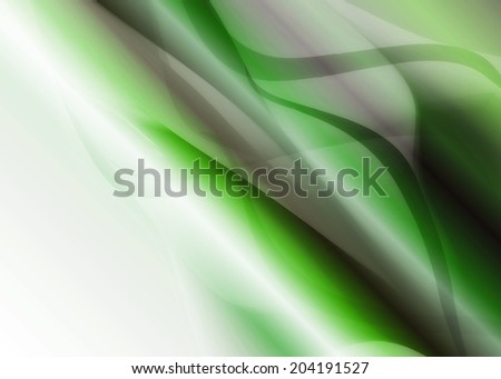 multicolored bright abstract background with waves with metallic shine green - stock photo