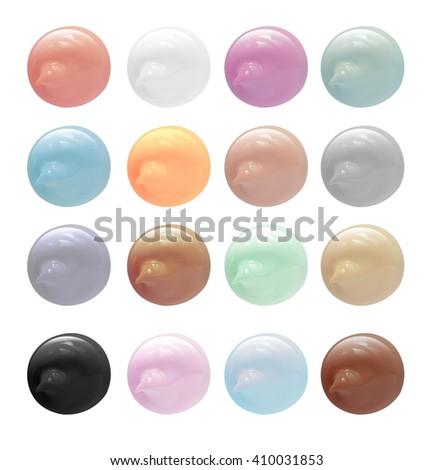 Multicolored cosmetic cream - stock photo