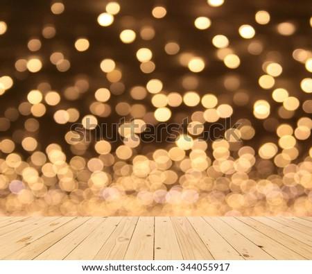 Multicolored defocused bokeh lights background - stock photo