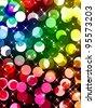 Multicolored defocused lights background - stock photo