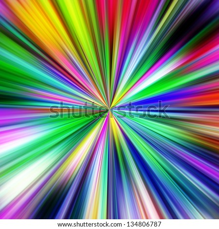 Multicolored explosion abstract illustration. - stock photo