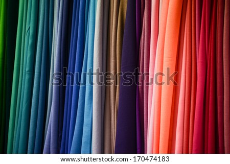 Multicolored fabric texture - stock photo