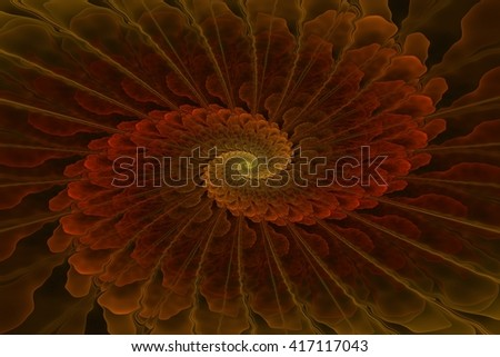 Multicolored fractal spiral, in my portfolio is much similar images - stock photo