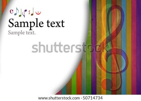 Multicolored music background - stock photo