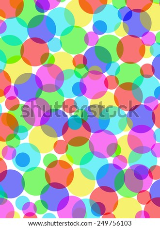 Multicolored overlapping circles background illustration. - stock photo