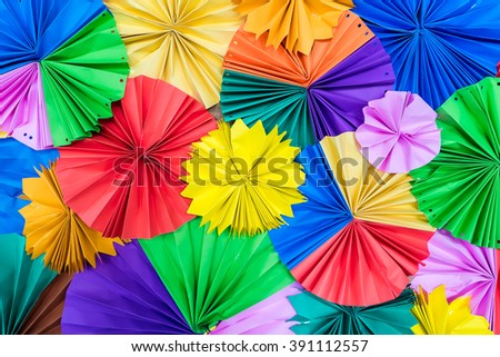 Multicolored paper backdrop for background - stock photo