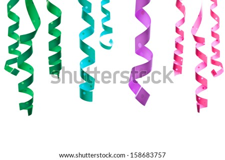 multicolored serpentine isolated on white background  - stock photo