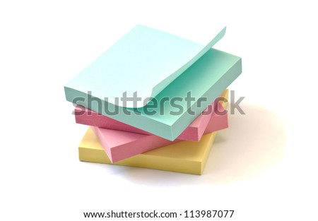 Multicolored stickers isolated on white background - stock photo