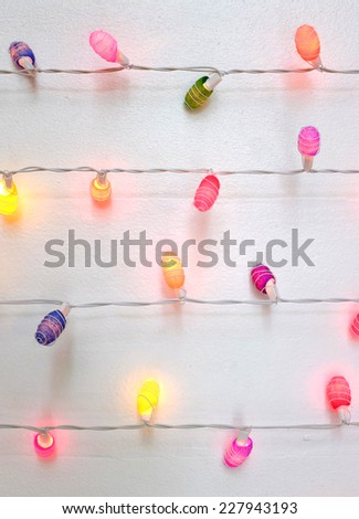 Multicolored string of Christmas lights  - stock photo
