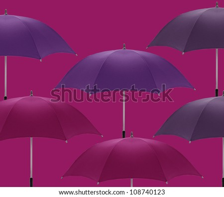 Multicolored umbrellas a symbol of summer, fashion and decoration. - stock photo