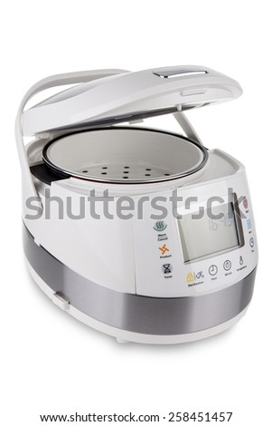 MULTICOOKER & PRESSURE COOKER Isolated on White - stock photo