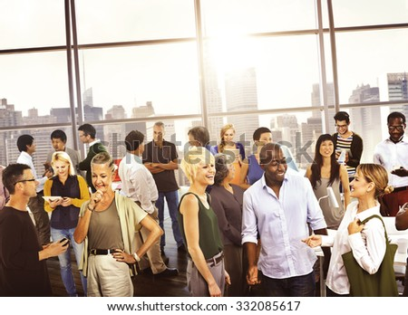 Multiethic Group People Business Communication Concept - stock photo