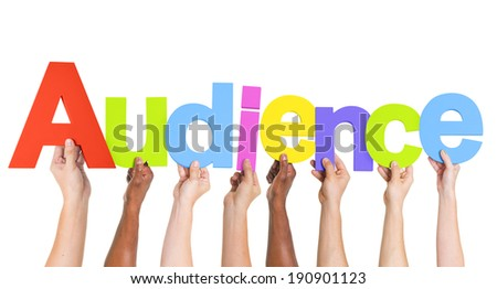 Multiethnic Group of Hands Holding Audience - stock photo