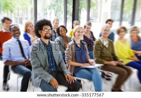 Multiethnic Group Seminar Training Boardroom Concept - stock photo