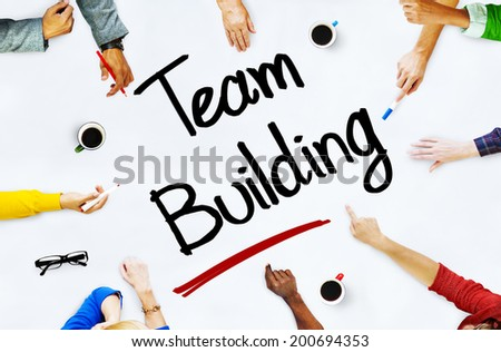 Multiethnic People Discussing About Team Building - stock photo