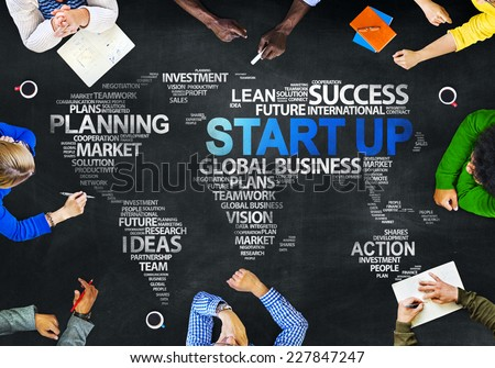 Multiethnic People Discussing Start Up Global Issues Concept - stock photo