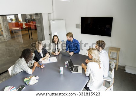 Multiethnic people in the office - stock photo