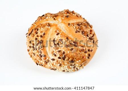 multigrain bun - stock photo
