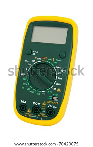 Multimeter for a measurement of a voltage, current and resistance. - stock photo