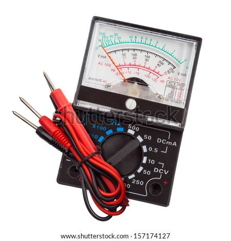 Multimeter, tester isolated on the white background - stock photo