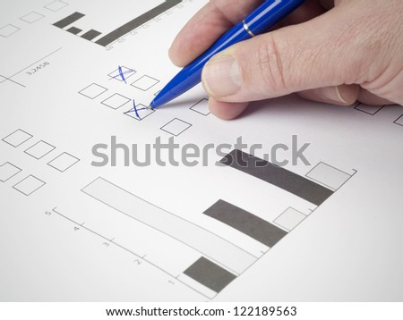 multiple choice exam - stock photo