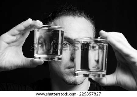Multiple personality disorder - stock photo