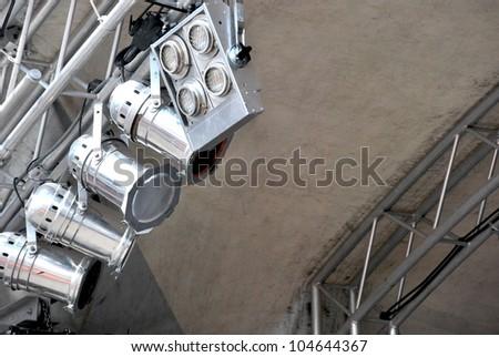 Multiple stage spotlight - stock photo
