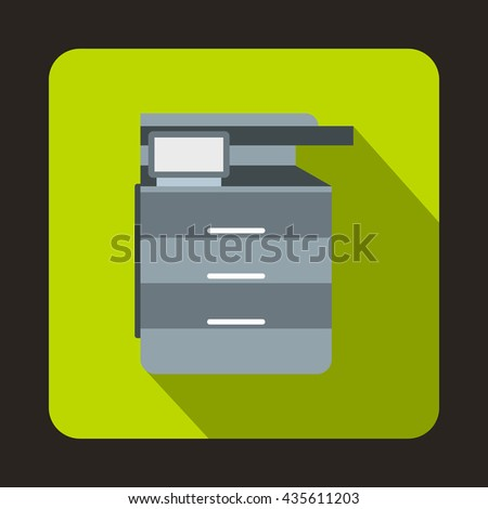 Multipurpose device, fax, copier and scanner icon - stock photo