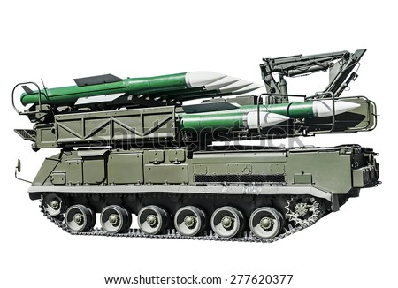 multipurpose highly mobile anti-aircraft missile system (ADMS) medium-range. Russian military equipment - stock photo