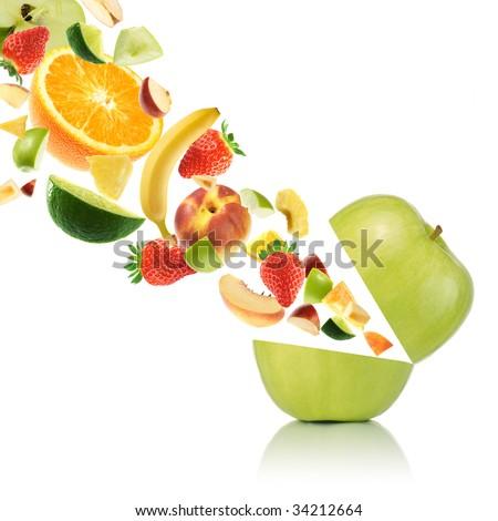 Multivitamin fruit - stock photo