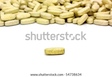 Multivitamin pills - stock photo