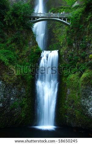 Multnomah Falls, Columbia River Gorge - stock photo