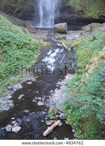 Multnomah falls oregon - stock photo