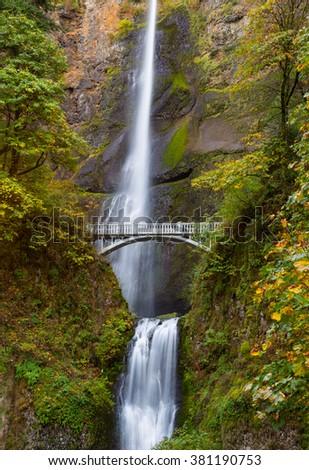 Multnomah Falls view - stock photo