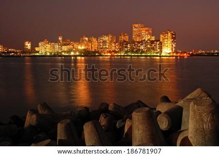 Mumbai By Night - stock photo