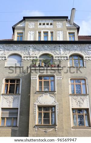 Munich Art Nouveau House - stock photo