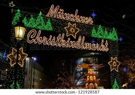 Munich christmas market - stock photo