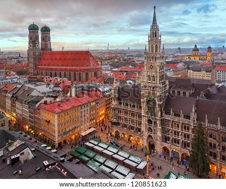 Munich city center, Germany - stock photo