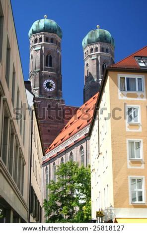 Munich Frauenkirche church - stock photo