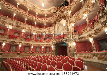 MUNICH,GERMANY- MAY 18: Baroque opera house of Munich Palace (Residenz), on May 18, 2011 in Munich, Germany. It is the former royal opera house of the Bavarian monarchs in Munich city center.  - stock photo