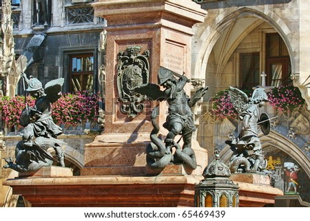 Munich Marienplatz - stock photo