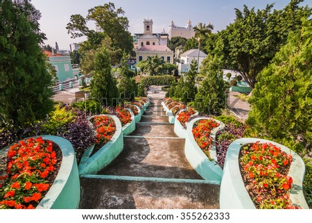 Municipal Garden,Macau China - stock photo