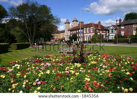 Municipal gardens - stock photo