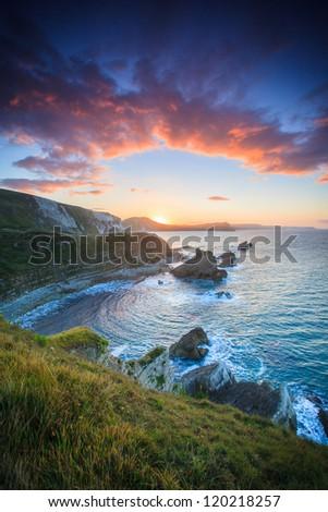 Mupe Rocks Sunrise - stock photo