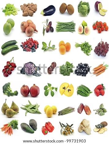 Mural with food - stock photo