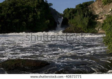 Murchison Falls Uganda - stock photo