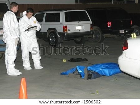 murder scene - stock photo