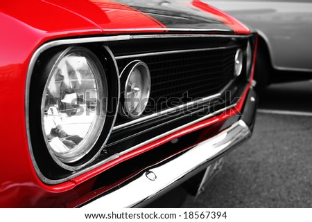 Muscle Car - stock photo