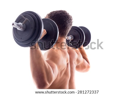 Muscular bodybuilder guy - stock photo
