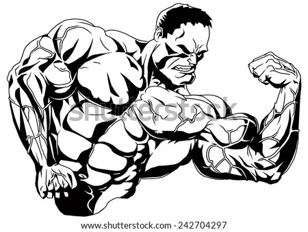 Stock images similar to id 55855372 muscle man funny - Cartoon body builder ...